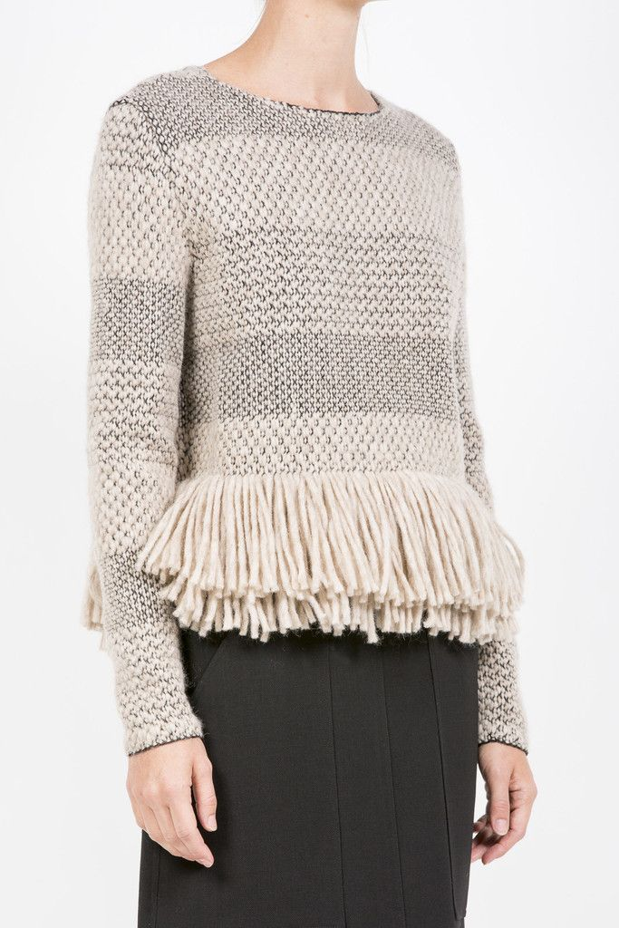 Crewneck Pullover by Rachel Comey @ Kick Pleat #rachelcomey #knit #fringe