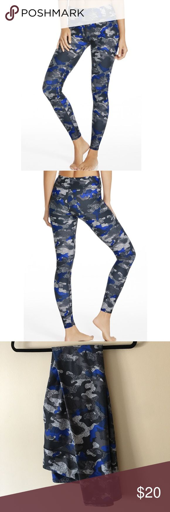 Blue camo yoga pants Kate Hudson's brand, Fabletics | full length | great quality/durable | not see through | cute for running errands too. Fabletics Pants Leggings
