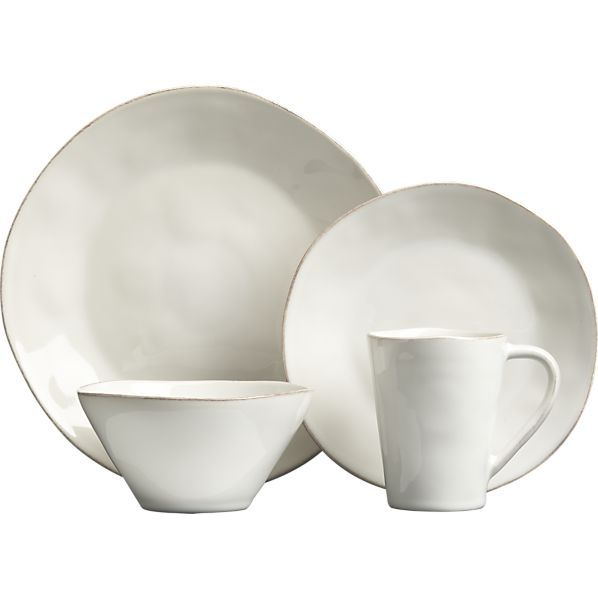 Marin White Dinnerware in Dinnerware Sets | Crate and Barrel. My new dishes. I love them, goes with everything