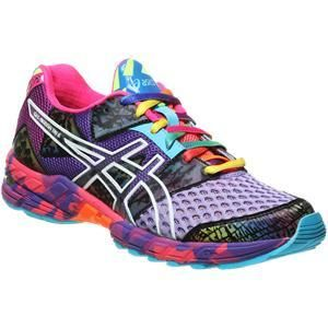 """Running motivation: Colorful Asics."" Well I don't run but I waaaant these anyway."