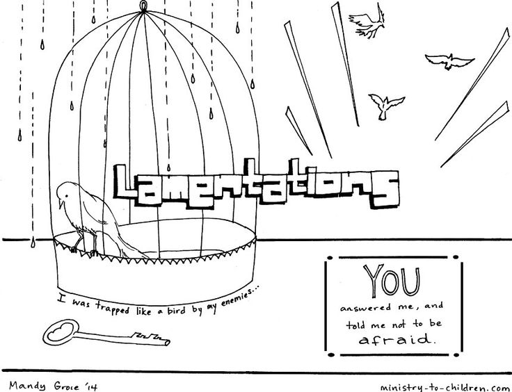 This Free Coloring Page Is Based On The Book Of Lamentations Its One Part