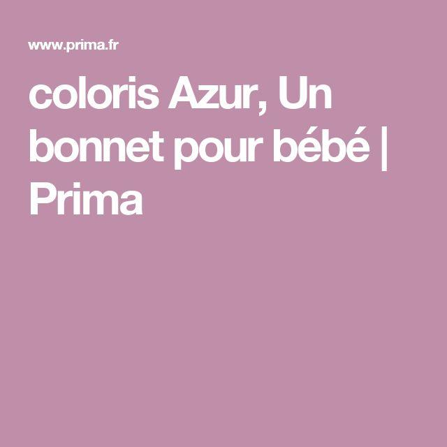coloris Azur, Un bonnet pour bébé | Prima
