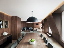 The London EDITION Hotel HR-507-LT Presidential Suite Copper Pendant. Project Designer: Yabu Pushelberg