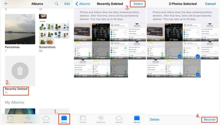 How To Recover Deleted Photos Or Pictures From Iphone This Post