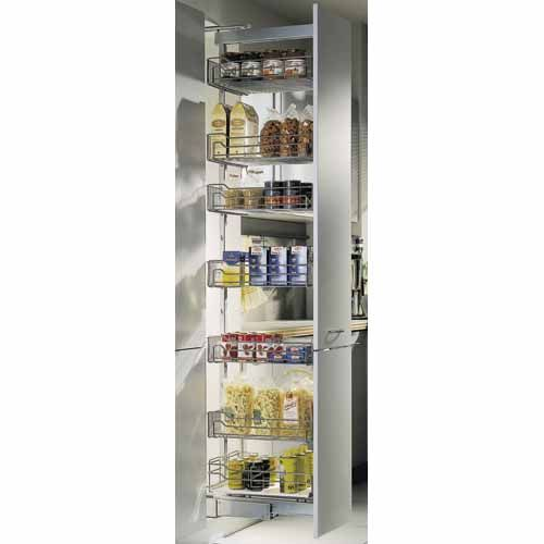 HAFELE Pull Out Pantry Baskets 1740-2000mmx360x500 Silver - Mitre 10