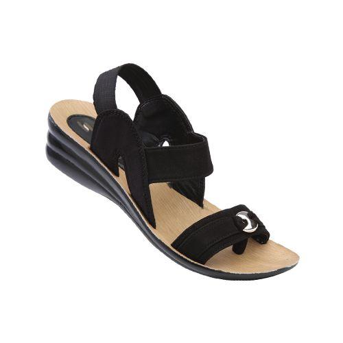 Shoesdays Sandali con Zeppa Donna, Nero (Stone), 39 EU