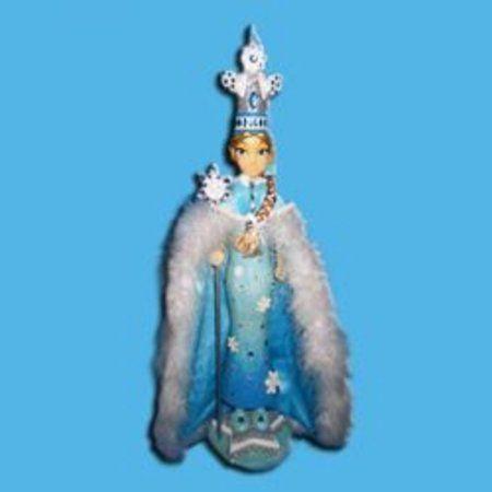 "20"" Blue and Silver Ice Palace Snow Princess Decorative Christmas Nutcracker"
