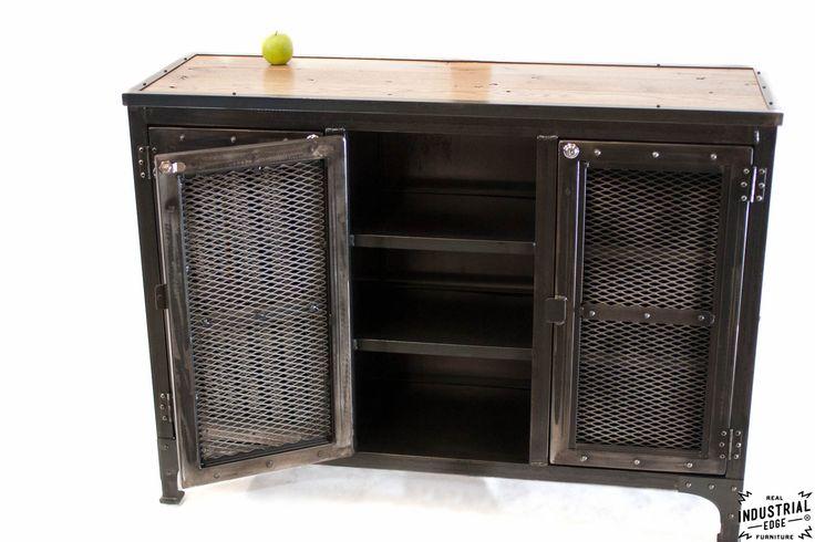Custom Locking Wine Cellar Cabinet / Steel & Reclaimed Oak – Real Industrial Edge Furniture   Custom, Industrial, Vintage, Handmade