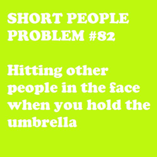 Short People Problem #82! Same thing happens when I wave my terrible towel!