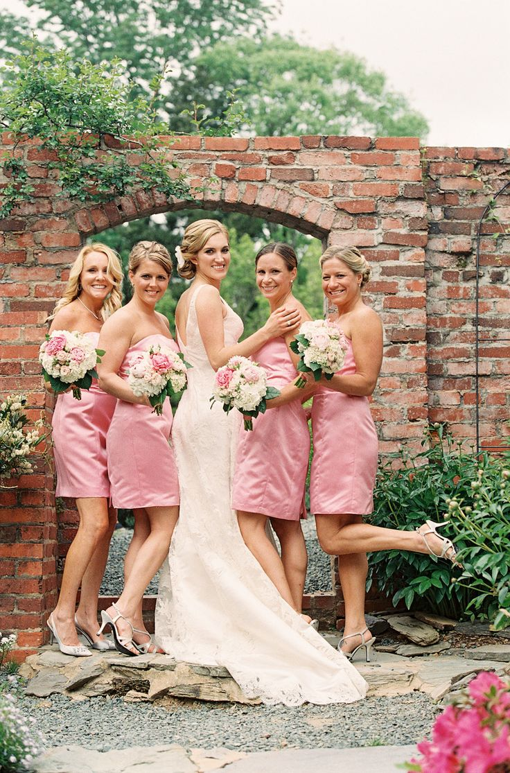 35 best pink bridesmaid dresses images on pinterest pink pink bridesmaid dresses for a romantic spring wedding ombrellifo Images