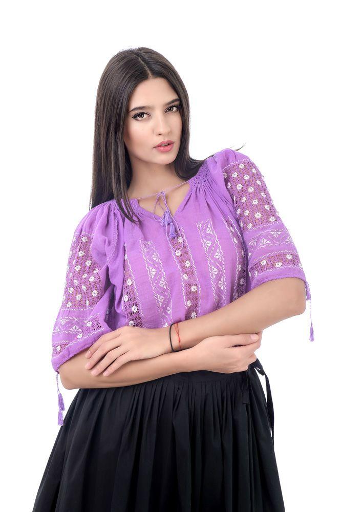 Traditional purple blouse. #romanianblouse