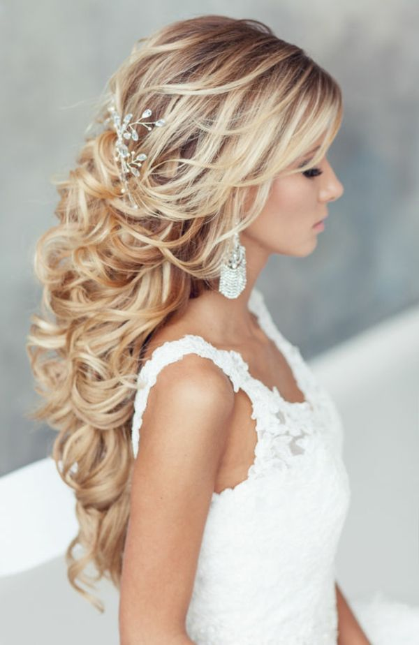 elegante metà sposa fino acconciature