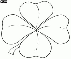 The lucky clover coloring page