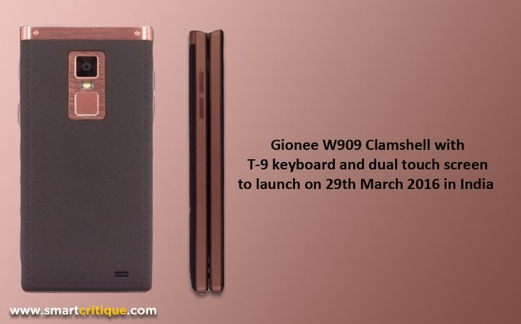 Gionee to launch the most talked about W909 Clamshell smartphone on 29th March 2016 in India. The phone is talked for its dual screen and 4GB RAM.