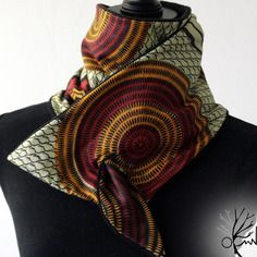 Écharpe en tissu africain doublé polaire par olwn awa jiri
