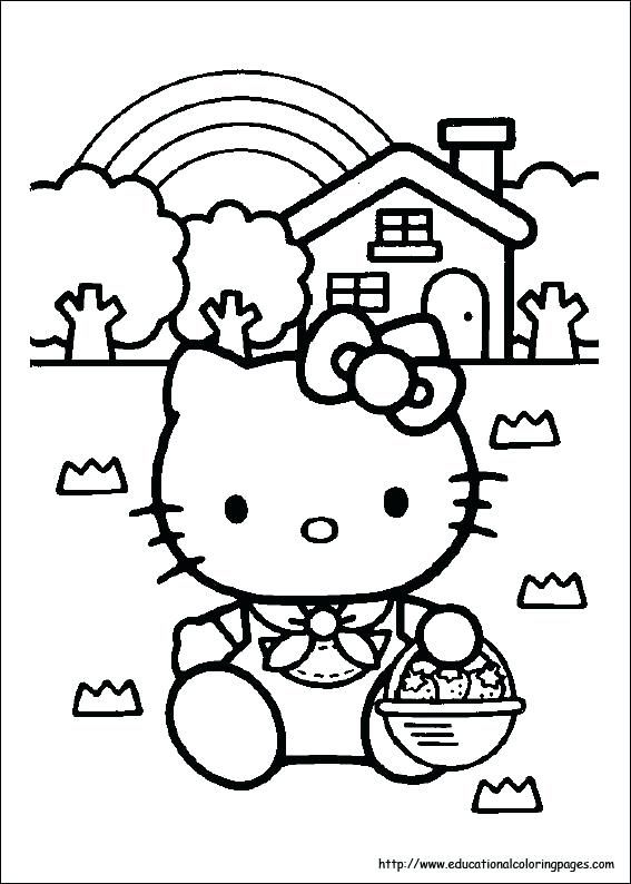 Kitty Coloring Page Hello Kitty Valentines Day Coloring Pages