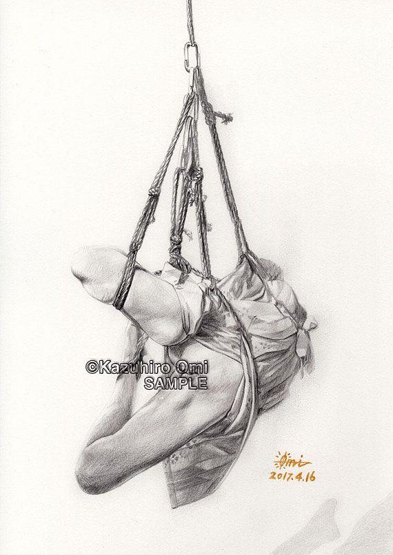Kinbaku,Shibari,Japanese Bondage,Rope Art,Fine Art,Rope Bondage,BDSM ,Sexy,Erotic,Fetish,Nude,Japan,Pencil Drawing,Digital Download | Rope art,  ...