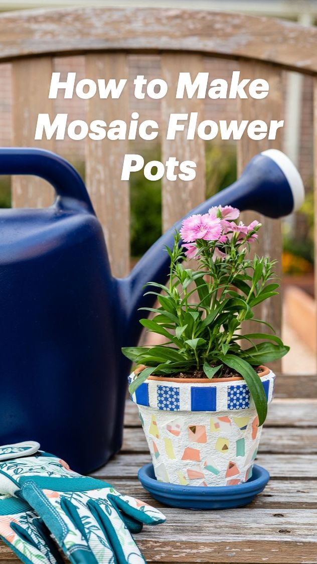 Mosaic Diy, Mosaic Ideas, Mosaic Projects, Mosaic Patterns, Paint Flower Pots, Mosaic Flower Pots, Easy Diy Crafts, Decor Crafts, Crafts For Kids