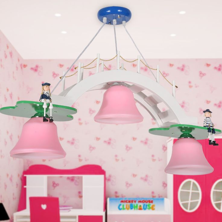 Canvas of Pretty Pink Chandelier For Girls Room