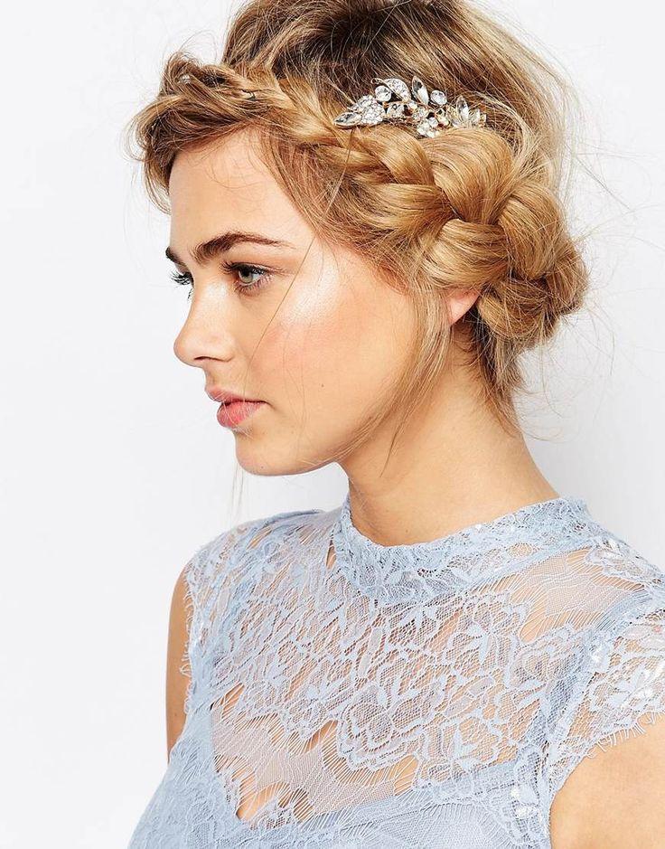 Bild 1 von Love Rocks – Haarspange mit Blatt- und Kristalldesign