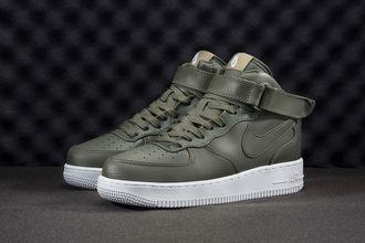 Nike Air Force 1 Mid (зеленые, унисекс)
