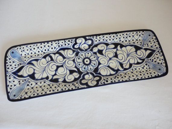 Hey, I found this really awesome Etsy listing at https://www.etsy.com/listing/125843913/talavera-ceramic-tray-blue-and-white