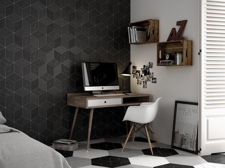 Rhombus Black, White, Grey nais.es