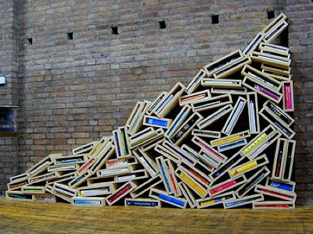 9 Beautiful Bookshelves Of Questionable Functionality   BOOK RIOT. I Want  To Make All Of Them Happen In My House.