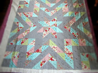 Ruby Sparkles quilt top