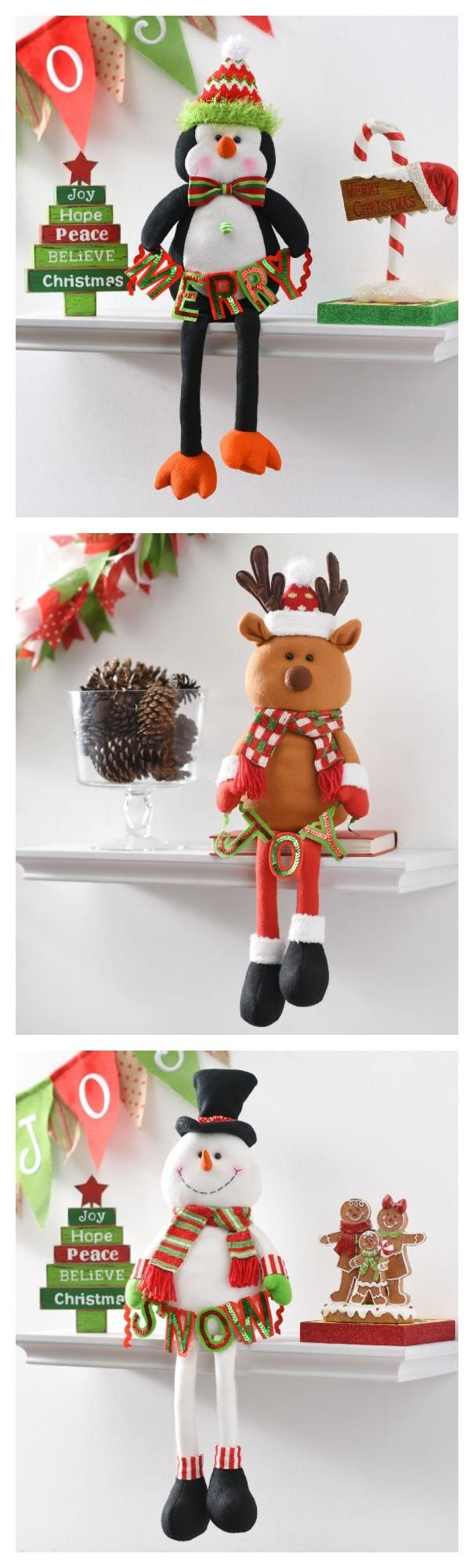 These Plush Shelf Sitters make for the perfect festive companions to spread the holiday spirit all throughout your home.