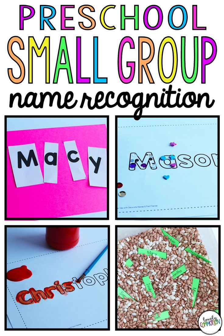 Preschool Small Group: Name Recognition | Small groups ...