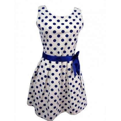 Naritva Blue Polka Dots Dress