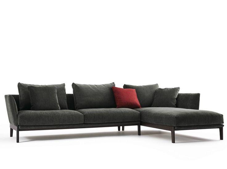 Téléchargez le catalogue et demandez les prix de Chelsea | canapé by Molteni & C., canapé 3 places avec méridienne design Rodolfo Dordoni, collection Chelsea