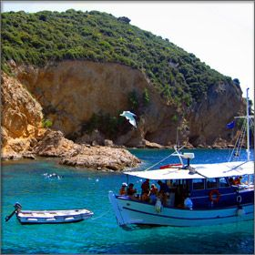 Boat Trips on Thassos Island, Greece