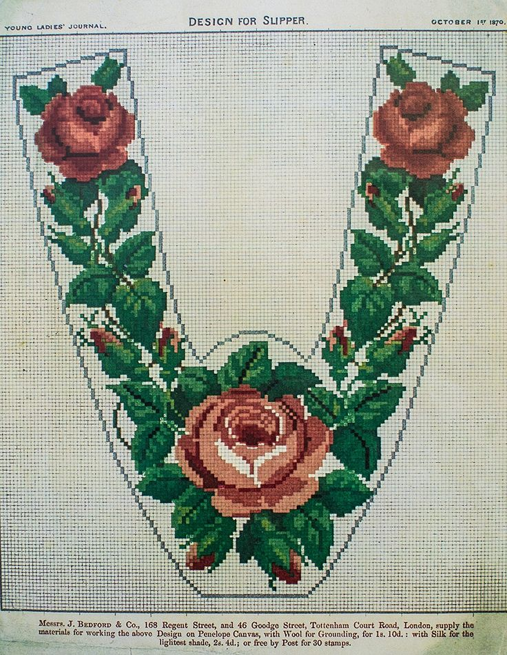 Berlin Work Pattern 'The Rose Slipper'