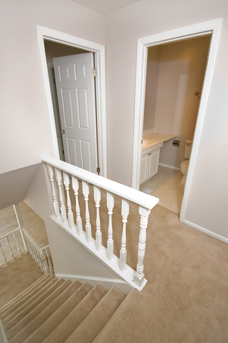 staircase in three bedroom townhome #brookhill #westmont #townhomes