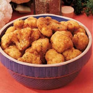 Breaded Cauliflower - Made this quick recipe as an appetizer for Campfire Cookout Night. What a great treat!  The whole family loved it.