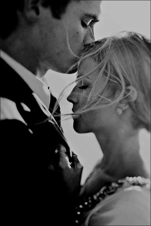 Soft forehead kisses