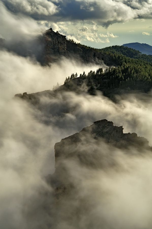 Mountains Covered by a Douvet of Clouds, Gran Canaria
