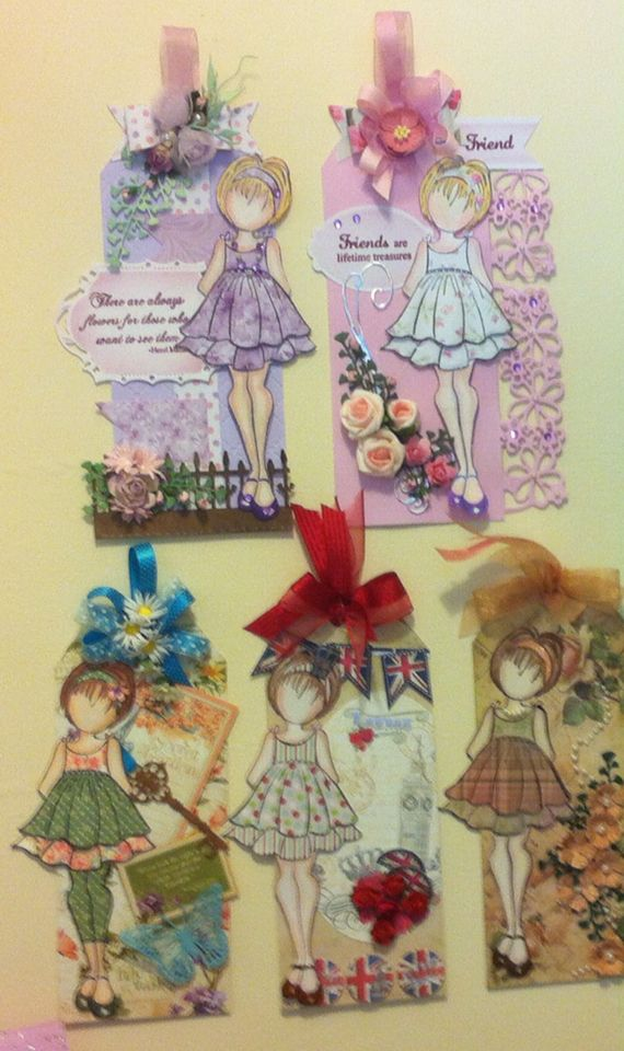 Assortment of prima doll tags Very addictive !