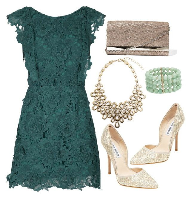Green and Gold by almeirataradewi on Polyvore featuring polyvore, moda, style, Topshop, Steve Madden and Lonna & Lilly