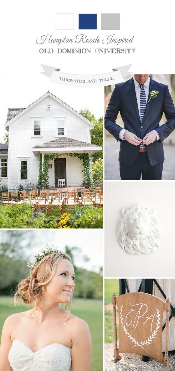 Collegiate and preppy wedding inspiration