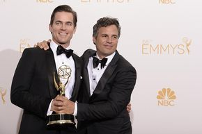 Matt Bomer (l) and Mark Ruffalo (r) of The Normal Heart celebrate at the 66th Emmy Awards [X]