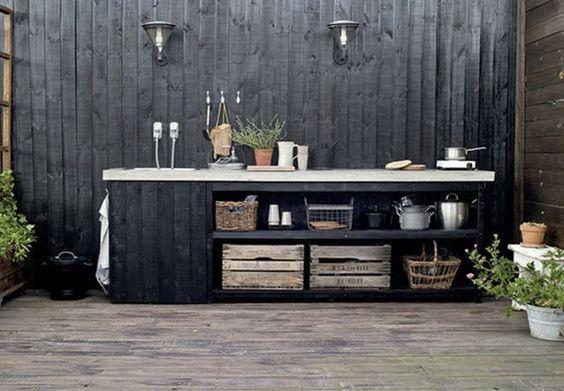 Best 25 outdoor kitchen bars ideas on pinterest backyard kitchen outdoor kitchens and - Outdoor amenager ...