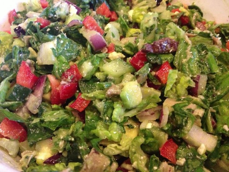 This delicious Chopped Greek Salad is a summer favorite that's not only easy to make, it's full of Omega-3 and Vitamin C which both help to relieve pain.