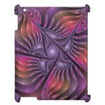 Colorful Fantasy Abstract Modern Purple Fractal Case For The iPad 2 3 4