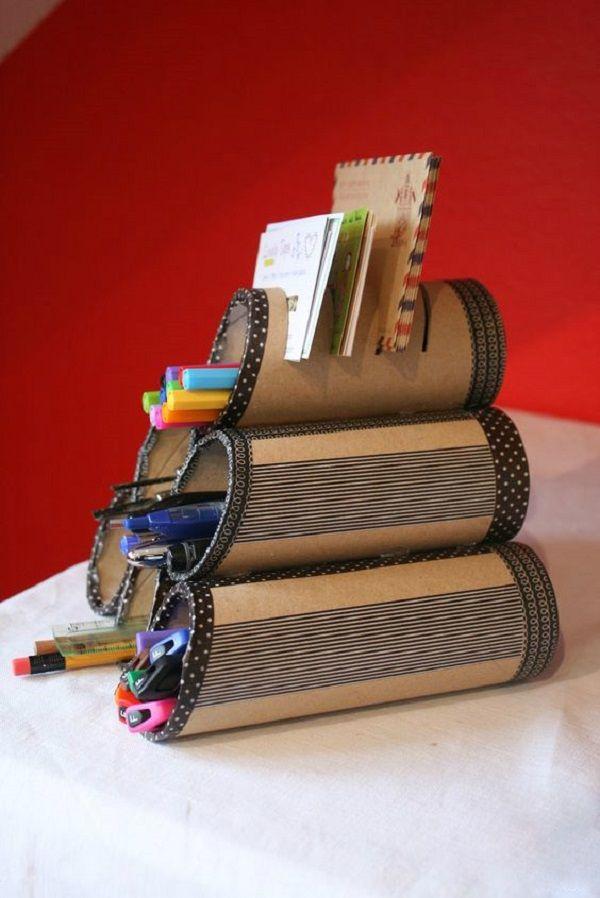 Artesanías de los rollos de papel higiénico                                                                                                                                                                                 Más