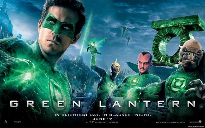 Green Lantern movie poster wallpaper