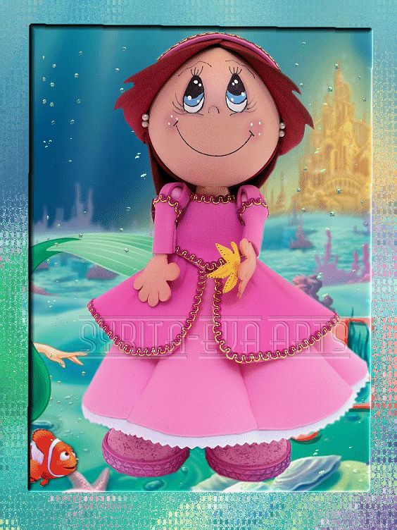 """Princesa """"Ariel"""" (fofucha)"""