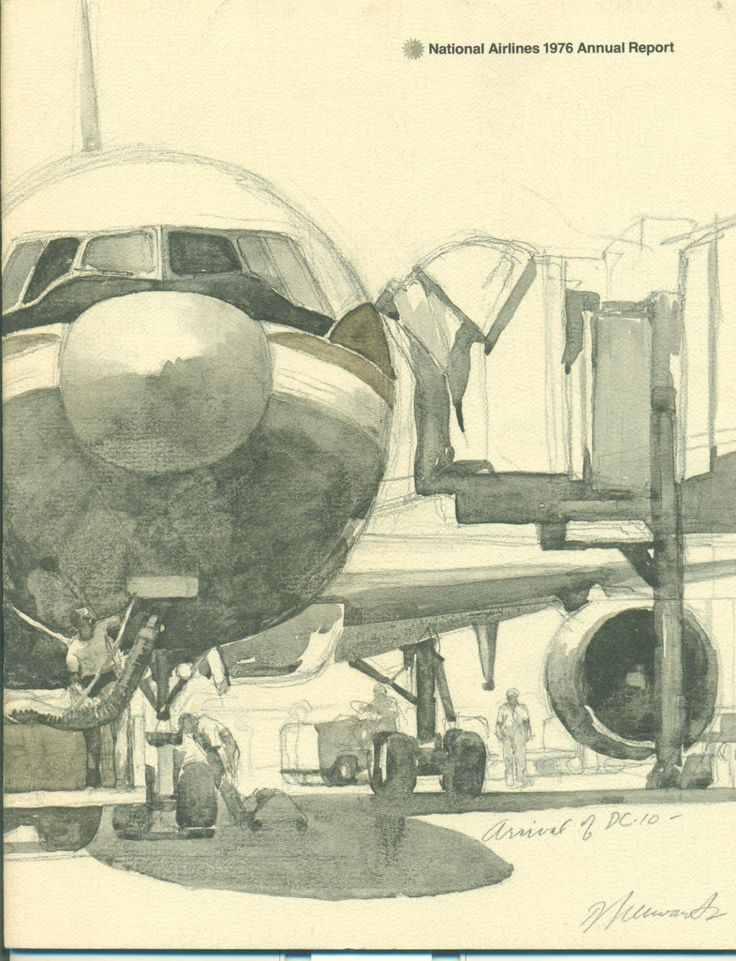 Annual Report  National Airlines 1976